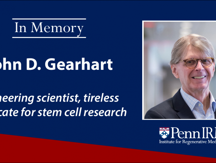 On May 27, 2020 we lost stem cell pioneer John Gearhart to cancer. John will be remembered for his historic contributions & record of advoacy.